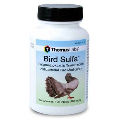 Tablets Bird Sulfa by Thomas Labs 30ct 100ct count