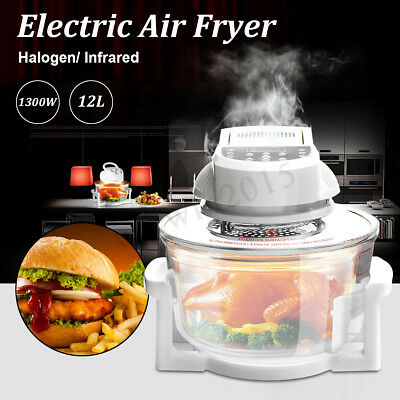 12L 1300W Electric Air Fryer Machine Halogen/ Infrared Oven French Fries Chicken