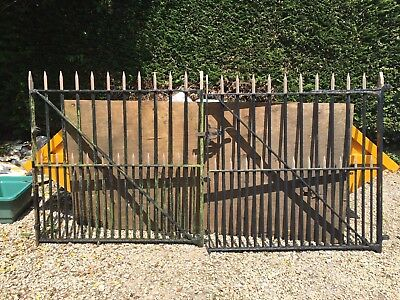 Original Vintage Wrought Iron Driveway Gates , Over 100 Years Old , Very Heavy