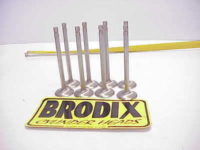 "8 NEW Brodix 11/32"" Stainless Steel Exhaust Valves 5.380""-1.600"" BR81054 NHRA"