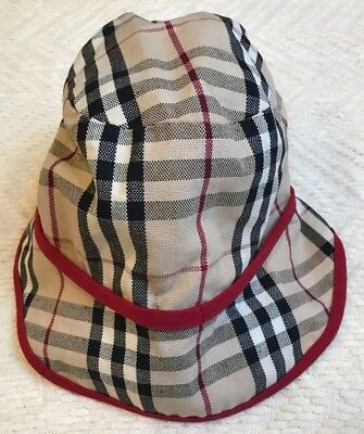 WOMEN S BURBERRY CHECKED Bucket Rain Hat -  125.00  2dc24ef9cf2f