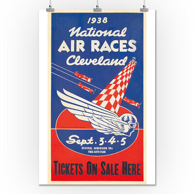 National Air Races - Cleveland 1938 - Vintage Ad (24x36 Giclee Print)