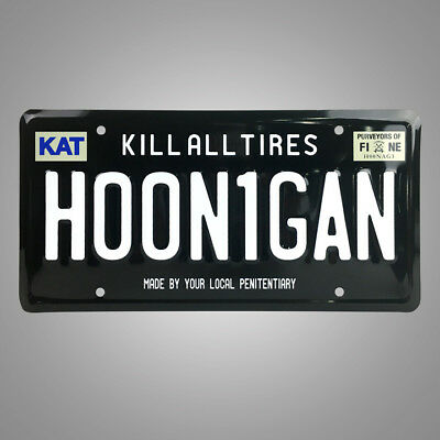 HOONIGAN License Plate HA411HNGN