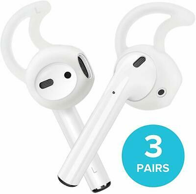 AirPods Ear Hooks, Apple Earpods Cover Tips, 3-PACK Silicone Covers For Apple...