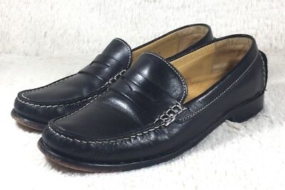 26fbf041b9a55 COLE HAAN PENNY Loafers Flats Womens Black Leather Slip On Career D21549  Size 6