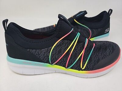 NEW! SKECHERS WOMEN'S SYNERGY SIMPLY CHIC Walking Shoes Blk