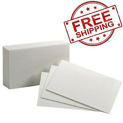 Oxford Blank Index Card 3 X 5 Inch White Pack Of 100-FREE SHIPPING