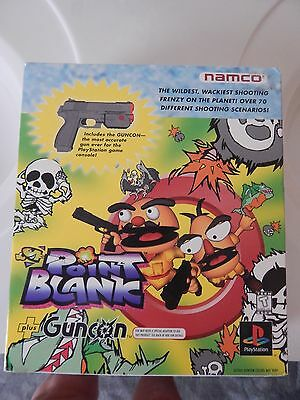 Ps1 Namco Point Blank Game W Gun Controller Box Set Clean Original Playstation