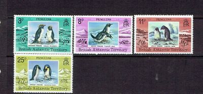 British Antarctic Territory - 1979 Penguins - Scott 72 To 75 - Mnh