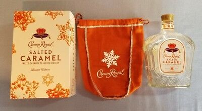 Crown Royal Salted Caramel LIMITED EDITION 750ml size empty bottle, box and bag