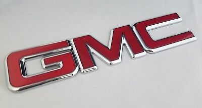 D Gmc Canyon Sierra Yukon Rear Emblem Trunk Tailgate Badge Nameplate 10.8""