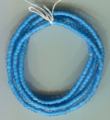 African Trade beads Vintage Venetian glass nice blue white heart beads sm