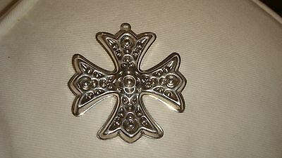 Reed & Barton Sterling Silver 1975 Christmas Cross Ornament - 3 available