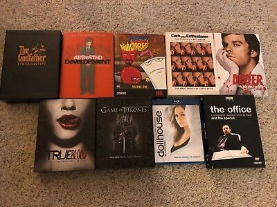 Assorted DVD/Blu-Ray Box Sets *Lot of 9* - Godfather Game of Thrones True Blood