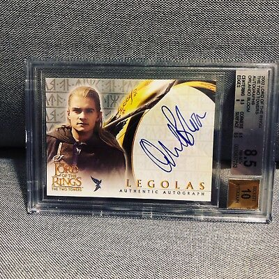 Topps Lord Of The Rings Two Towers Orlando Bloom Legolas Autograph BGS 8.5 10
