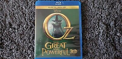 Disney Oz The Great And Powerful (2013) 3D Blu-ray only with case (read)