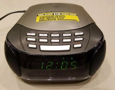 Emerson ckd9902 am/fm radio/alarm clock/cd player for parts or.