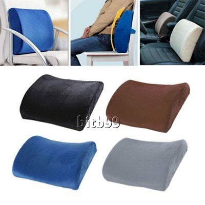 Lumbar Back Support Cushion Pillow Memory Foam Waist Home Office Car Seat ChaEC