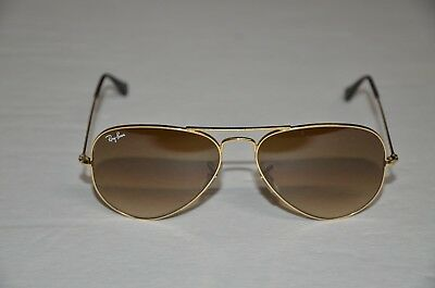 3980eef05318 RAY-BAN Sunglasses Aviator Gold Frame Brown Lenses RB3025 55-14