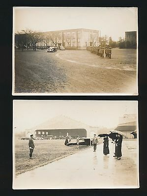 Lot (2) Vintage c.1920s 1930s Japanese Military Army Photos Cars Airplane Troops