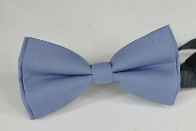 Boy Kids Baby Toddler Dusty Blue Cornflower Blue Bow Tie Fits 1-6 Years Old