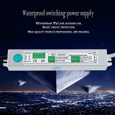 Reliable Waterproof Power Supply AC 110-260V Switching Transformer DC 25W 12V QC