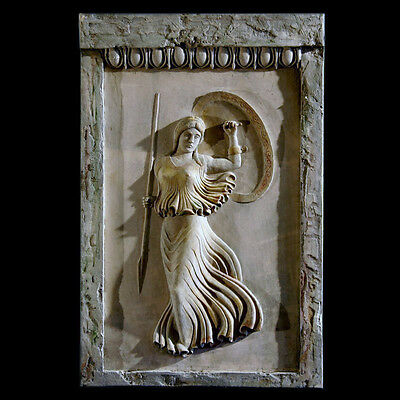 Athena ancient Greek goodess relief plaque Sculpture Replica Reproduction