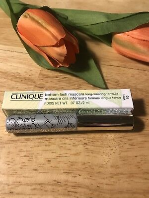 0152a95f38a CLINIQUE BOTTOM LASH Mascara BLACK Full Size 0.07 oz FRESH BNIB ...