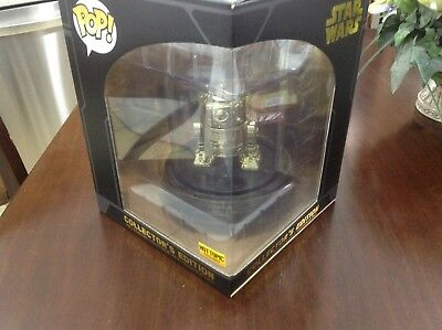 R2-D2 GOLD CHROME Star Wars Pop Vinyl Collector/'s Edition Figure Hot Topic 2017