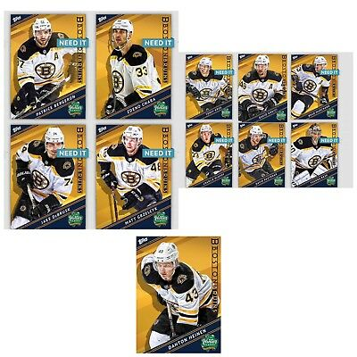 18-19 WINTER CLASSIC BRUINS COMPLETE SET OF 10 Topps NHL Skate Digital