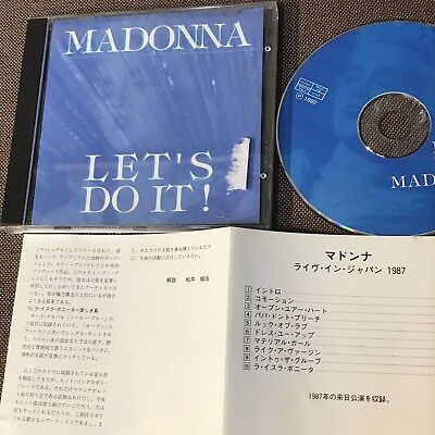 MADONNA Let's Do It! JAPAN/ ITALY CD ANF-3057 /BKCD 018 w/PS+JAPANESE INSERT