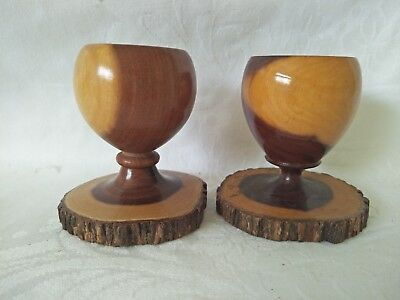 Egg Cups Mulga Wood Selection of 2 Made in Australa