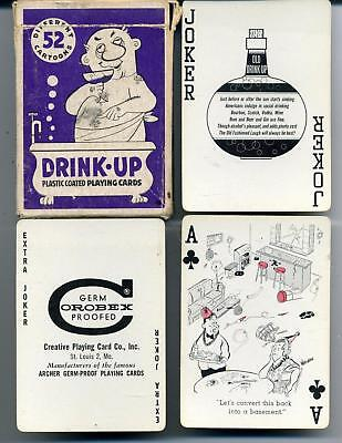 Vintage Playing Cards Drinking Joke Novelty Pictures Logos