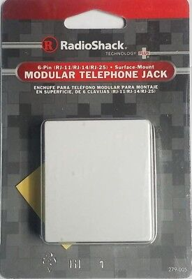 RadioShack 6-Pin (RJ-11/RJ-14/RJ-25) Telephone Jack 279-005 - SAVINGS Buy More