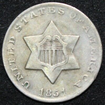 1851 U.S.A. Silver 3 Cents | Pennies2Pounds
