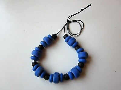 ancient glass necklace of colored beads-late Roman Byzantine or medieval period.