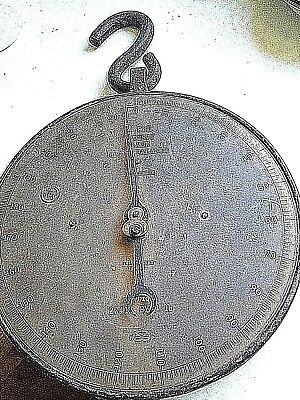 LARGE VINTAGE  CLOCK FACE  SET OF PRODUCE SCALES by SALTER and CO