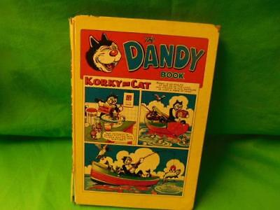 The Dandy Book 1958 Vintage Annual Korky the Cat
