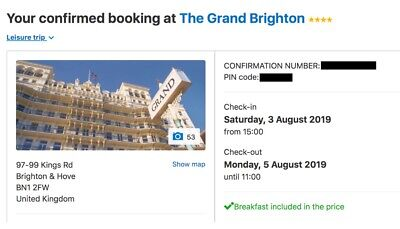 The Grand Brighton : Brighton Pride Weekend 3rd - 5th August 2019 (Two Nights)