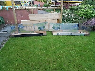 Original set of 6 stained glass windows from 1930's bay window