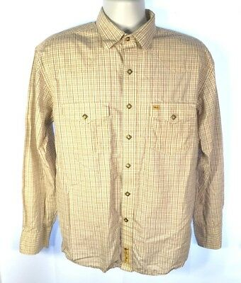 Larry Mahan Mens Rodeo Western Cowboy Diamond Accent Button Shirt Size L