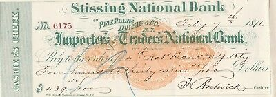 Stissing National Bank Pine Plains Dutchess County New York  1871 W/revenue