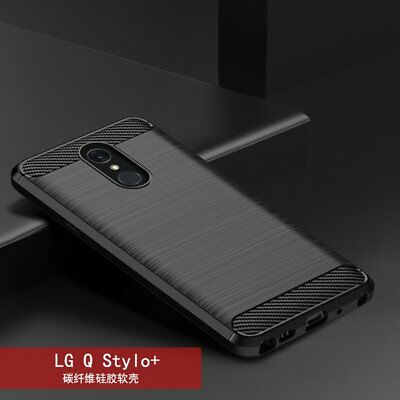 For LG Q Stylo Plus Luxury 360°Shockproof Silicone Hybrid Case Soft TPU Cover