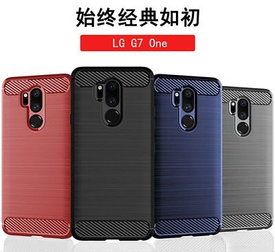 For LG G7 One Luxury 360°Shockproof Silicone Hybrid Case Soft TPU Cover