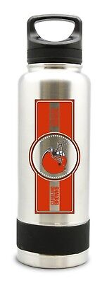 NFL Cleveland Browns  STAINLESS STEEL DOUBLE WALL INSULATED THERMOS BOTTLE NEW