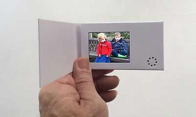 "Recordable Video Business Card - 2.4"" Screen - Blank Talking  256mb"