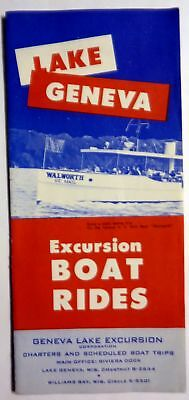 VTG Lake Geneva WI WIS excursion boat rides brochure & schedule !!!!!!!!!!!!!!!!
