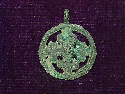 "Amazingly stunning Viking  pendant "" Cross in a circle"".  ca 10-11 AD"