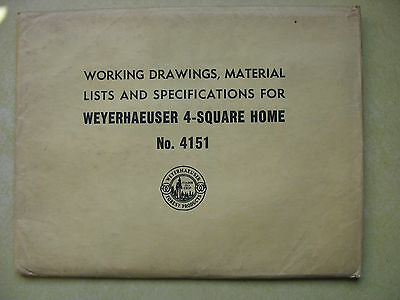 Weyerhaeuser 4-Square Home Plans, Specs,  Materials List No. 4151
