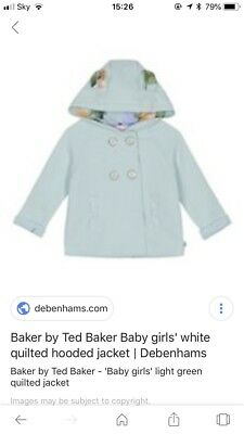 62d6cfa48 TED BAKER QUILTED Jacket baby girl 0-3 months - £10.00